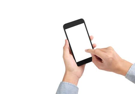 Attractive business man using smartphone in hand Reklamní fotografie