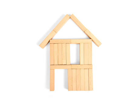 Model of detached house, business home idea