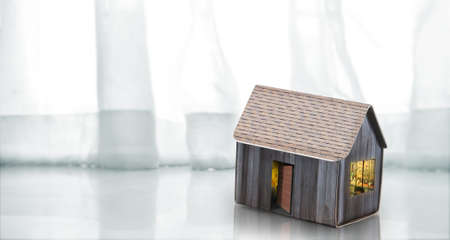 Model of detached a house, business home idea Stockfoto