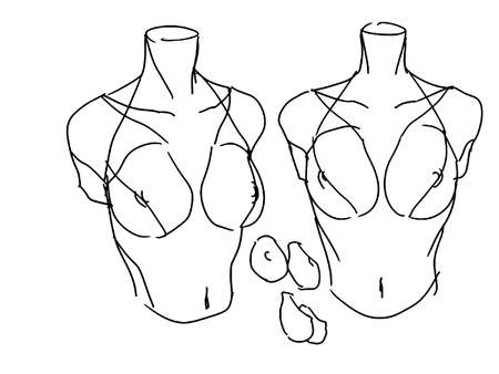 Tutorial of drawing a female body. Drawing the human body, step by step lessons. Female breast drawing tutorial. Drawing a woman's body with an emphasis on breasts.