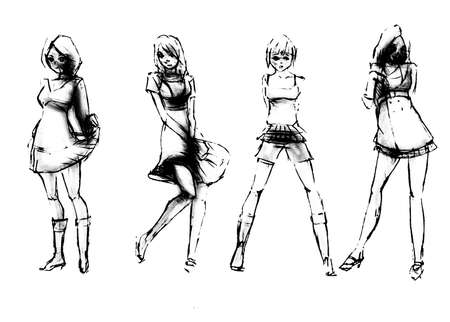 Tutorial of drawing a female body. Drawing the human body, step by step lessons.