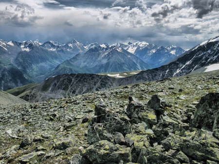 Nature is altai. Mountain landscape, forests and reservoirs of the altai.