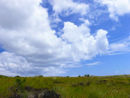 The sky over Easter Island. Sky and clouds.