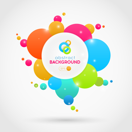 abstract: Flat abstract vector colorful circles background