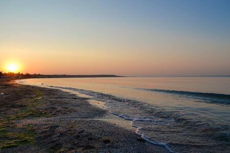 odessa: Sunrise on the sea. Dawn in Odessa Stock Photo