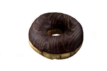 beautiful chocolate donut. isolated on white background. Archivio Fotografico