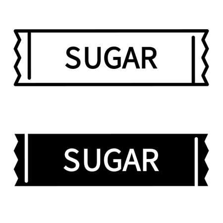 Sugar stick vector icon. Sugar packet illustration sign.