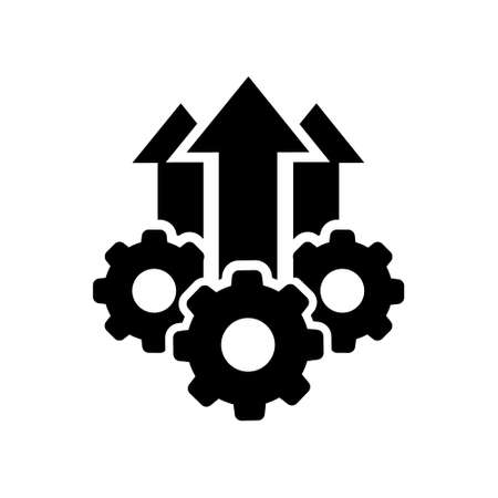 Operational excellence vector icon, production growth illustration sign collection. operation symbol. Illusztráció