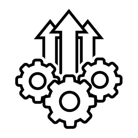 Operational excellence vector icon, production growth illustration sign collection. operation symbol.