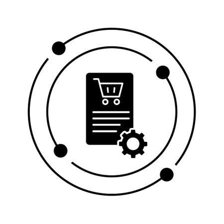Order processing vector icon. purchase illustration sign. checkout symbol. Ilustração