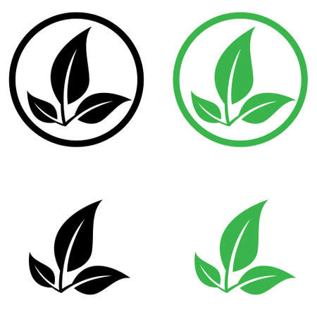 Biodegradable vector icon set. recyclable plastic free package illustration sign collection.