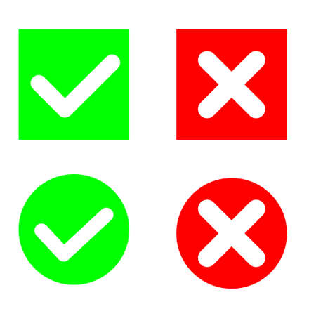 Approved illustration symbol collection, check mark list icons vector set. agree sign.