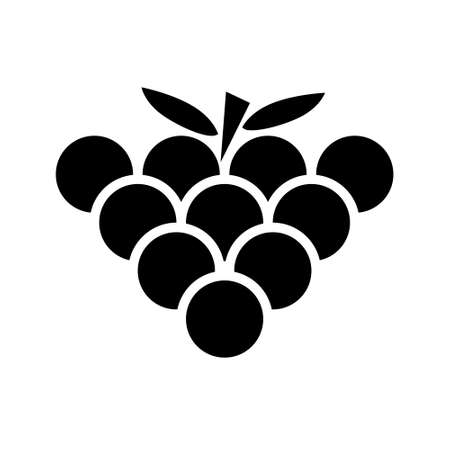 Grape icon vector set. plant illustration sign collection. organic symbol.