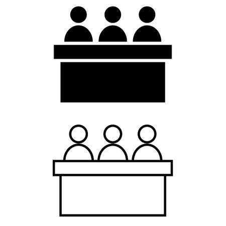 Jury group committee vector icon. jurors illustration symbol. Council symbol.