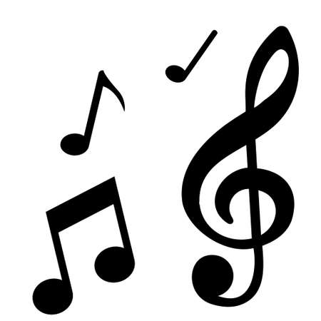 Note Icon Vector. Music illustration sign. song symbol. melody logo.