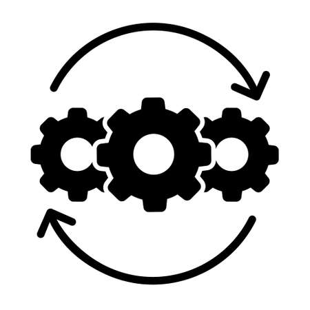 Clock Productivity vector icon. Efficiency illustration sign. capacity symbol.