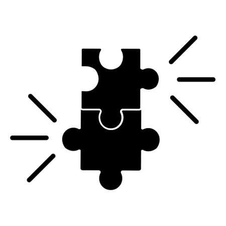 Compatibility vector icon, combination illustration sign. puzzle symbol. Vector Illustration