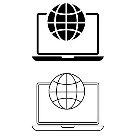 Intranet vector icon set. browser illustration sign collection. homepage symbol. Vektorové ilustrace