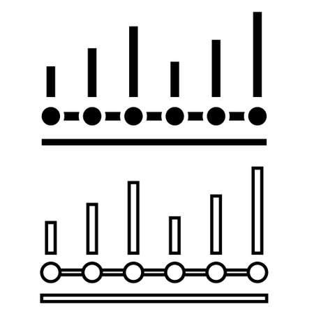 Benchmarking icon vector set. graph illustration sign collection. analytics symbol. Vektorgrafik
