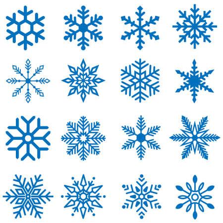 Snowflake icon vector set. winter illustration sign collection. Christmas symbol. Ilustracje wektorowe