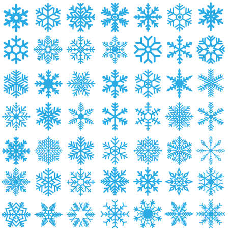 Snowflake winter icons set. Snowflake vector icon. Winter illustration symbol. Ilustracje wektorowe
