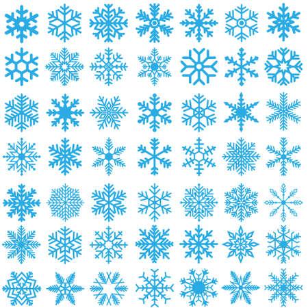 Snowflake winter icons set. Snowflake vector icon. Winter illustration symbol. Vector Illustratie