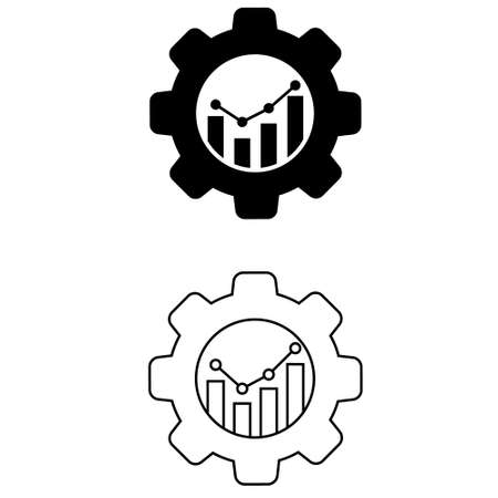 Productivity icon vector set. productive capacity illustration sign collection. performance analytics symbol.