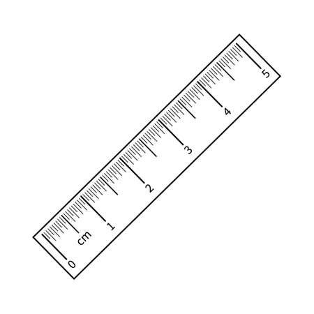 Centimeter ruler icon vector set. chancellery illustration sign collection. Vettoriali