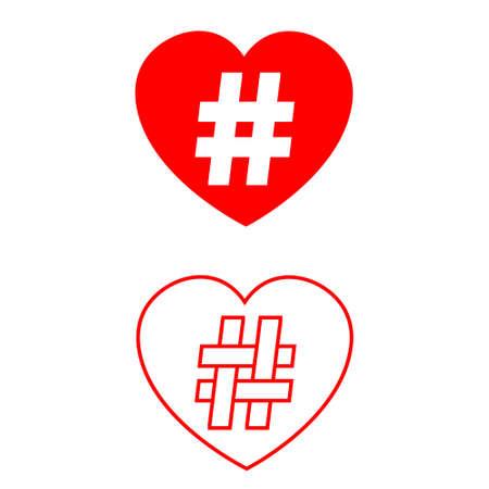 Hashtag icon vector set. group illustration sign collection. label symbol Vektoros illusztráció