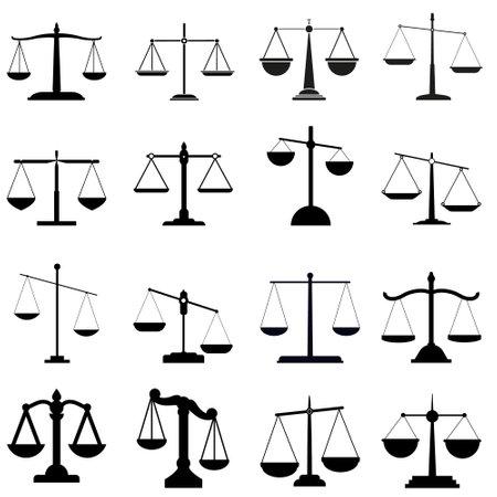 Libra icon vector set. scales illustration sign collection. balance symbol.