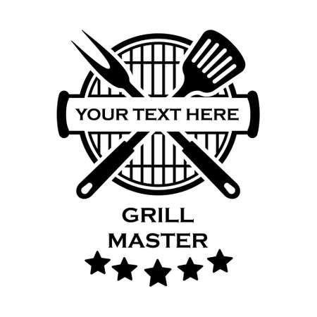 Grill master icon vector set. BBQ illustration sign collection. Grill menu symbol or logo.