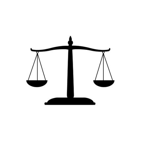 Libra icon vector. scales illustration sign. balance symbol. weigher