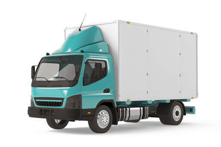 Cargo delivery vehicle truck Banco de Imagens - 23833237