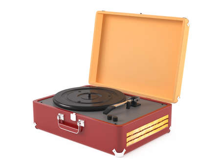 Old vintage retro portable gramophone