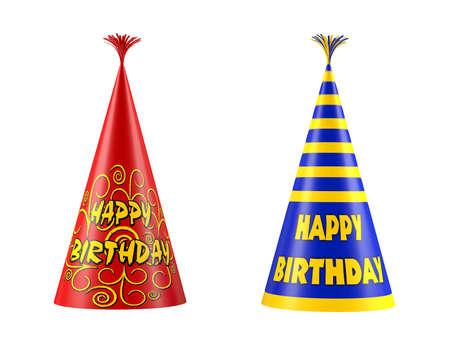 Aislado cumpleaños gorra. Sombrero del partido Foto de archivo - 24754022