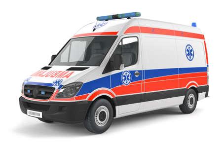 Moderne auto van de ziekenwagen