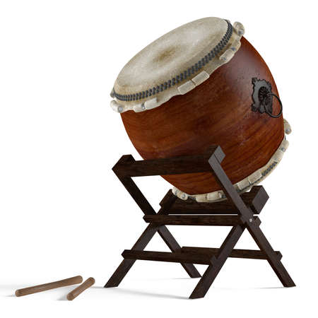 Taiko drums. Traditional Japanese instrument Banco de Imagens - 24754569