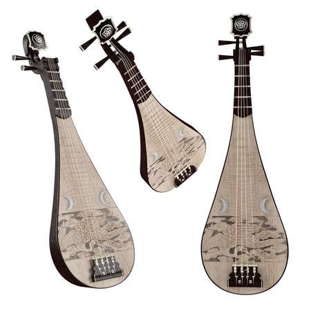 instrumentos musicales: Pipa. Instrumento musical chino tradicional.