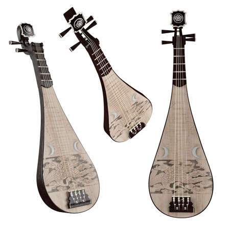 lute: Pipa. Traditional Chinese musical instrument.