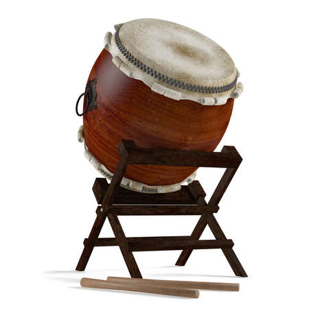 Taiko drums. Traditional Japanese instrument photo