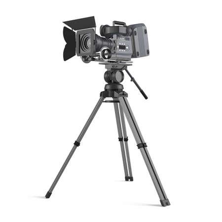 home video camera: Movie camera isolated