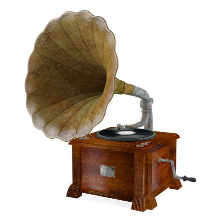 Vintage gramophone isolated. Banco de Imagens - 24755383