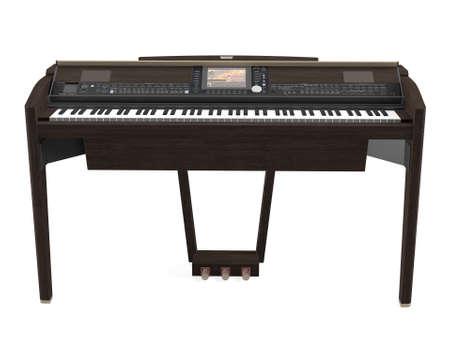 Electric piano isolated Banco de Imagens