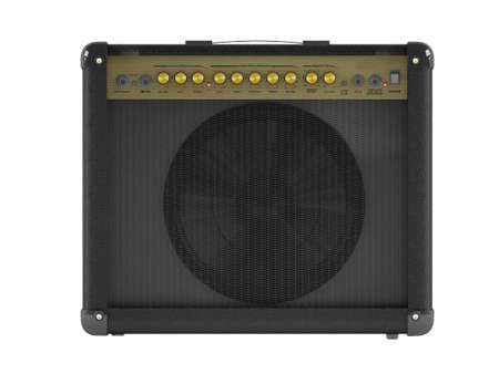 Electric guitar amplifier Stock Photo