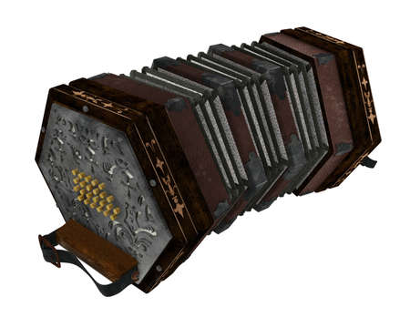 concertina: concertina isolated