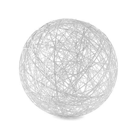 consist: Abstract structure ball consist of white lines. Stock Photo