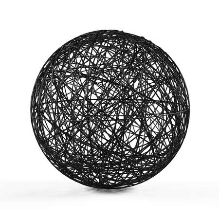 consist: Abstract structure ball consist of black lines.