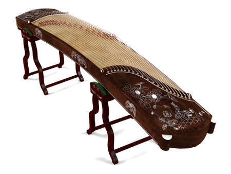 Wooden dulcimer traditional musical instrument. Banco de Imagens - 24755517