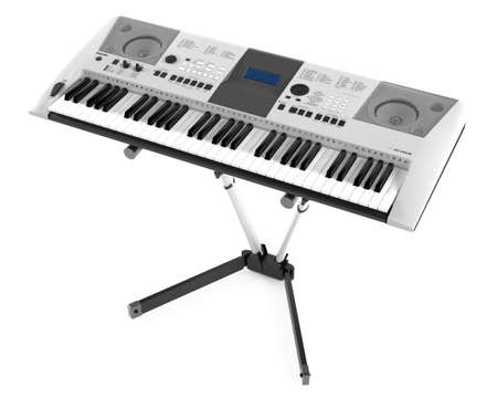 synthesizer: Synthesizer on the stand isolated