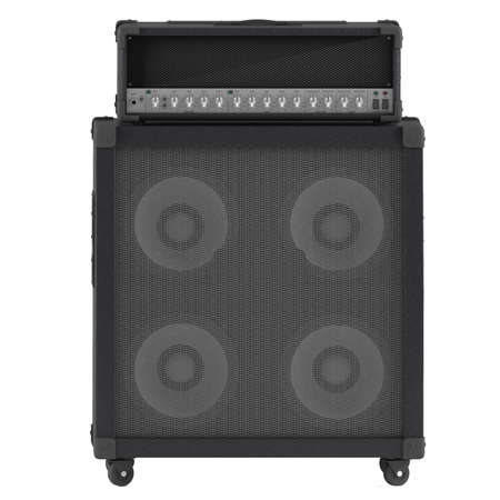 bass guitar: bass guitar amplifier with control panel isolated